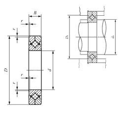 90 mm x 130 mm x 16 mm  IKO CRBC 9016 roulements à rouleaux de poussée