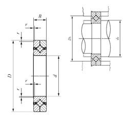 100 mm x 150 mm x 20 mm  IKO CRBC 10020 UU roulements à rouleaux de poussée