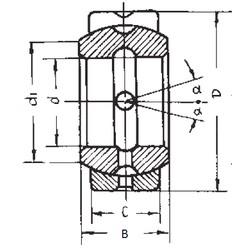 76,2 mm x 120,65 mm x 66,675 mm  FBJ GEZ76ES paliers lisses