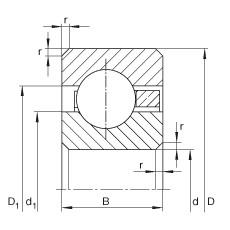 10 inch x 266,7 mm x 6,35 mm  INA CSCA100 roulements rigides à billes