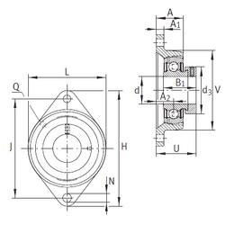 INA PCJT35-N-FA125 unités de roulement