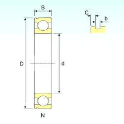 45 mm x 100 mm x 25 mm  ISB 6309 N roulements rigides à billes