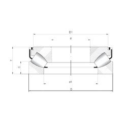 ISO 29384 M roulements à rouleaux de poussée