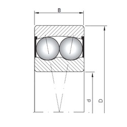 20 mm x 52 mm x 21 mm  ISO 2304-2RS roulements à billes auto-aligneurs