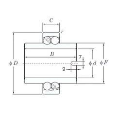 25 mm x 52 mm x 44 mm  KOYO 11205 roulements à billes auto-aligneurs