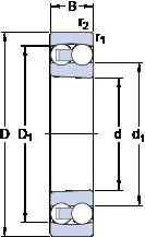 35 mm x 72 mm x 23 mm  SKF 2207 EKTN9 roulements à billes auto-aligneurs