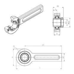SNR EXSP205 unités de roulement