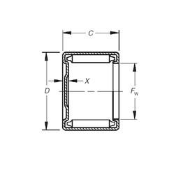 Timken M-17101 roulements à aiguilles