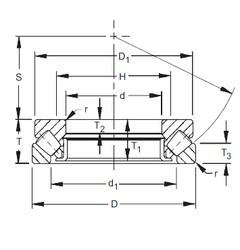 320 mm x 500 mm x 37 mm  Timken 29364 roulements à rouleaux de poussée
