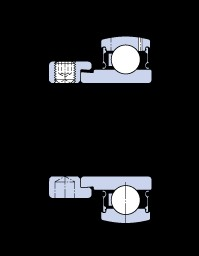 30.163 mm x 62 mm x 23.8 mm  SKF E2.YET 206-103 roulements rigides à billes