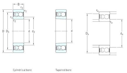 70 mm x 125 mm x 31 mm  SKF 2214E-2RS1TN9 roulements à billes auto-aligneurs