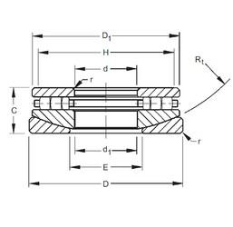 Timken 50TPS123 roulements à rouleaux de poussée