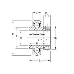17,4625 mm x 47 mm x 34,13 mm  Timken SMN011KB roulements rigides à billes