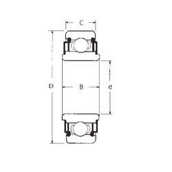 16 mm x 35 mm x 11 mm  FBJ 88016 roulements rigides à billes