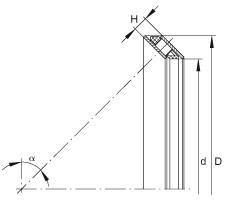 INA AXS2034 roulements à rouleaux de poussée