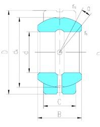 50 mm x 90 mm x 56 mm  LS GEG50ES-2RS paliers lisses