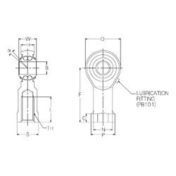 20 mm x 50 mm x 20 mm  NMB PBR20FN roulements à billes auto-aligneurs