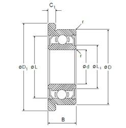 8 mm x 22 mm x 7 mm  NMB RF-2280HH roulements rigides à billes