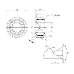 14 mm x 27,5 mm x 14 mm  NMB MBT14V paliers lisses