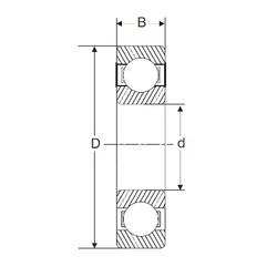 40 mm x 80 mm x 23 mm  SIGMA 62208-2RS roulements rigides à billes