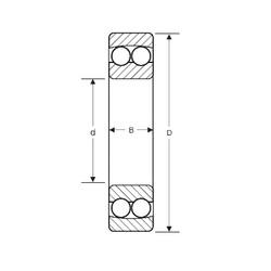 95 mm x 170 mm x 32 mm  SIGMA 1219 roulements à billes auto-aligneurs