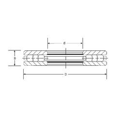 SIGMA RT-741 roulements à rouleaux de poussée