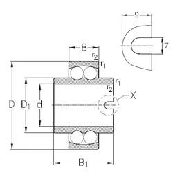 55 mm x 100 mm x 60 mm  NKE 11211 roulements à billes auto-aligneurs