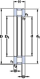 850 mm x 1000 mm x 36 mm  SKF 811/850 M roulements à rouleaux de poussée