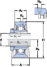 SKF SYJ 35 KF unités de roulement