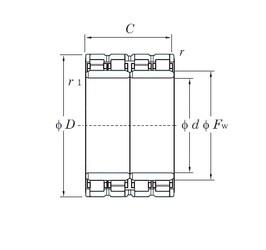 480 mm x 680 mm x 500 mm  KOYO 96FC68500 roulements à rouleaux cylindriques
