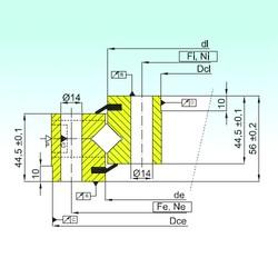 ISB NR1.14.0844.201-3PPN roulements à rouleaux de poussée