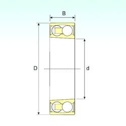30 mm x 62 mm x 20 mm  ISB 2206-2RSKTN9 roulements à billes auto-aligneurs