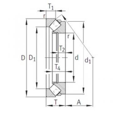 INA 293/710-E1-MB roulements à rouleaux de poussée