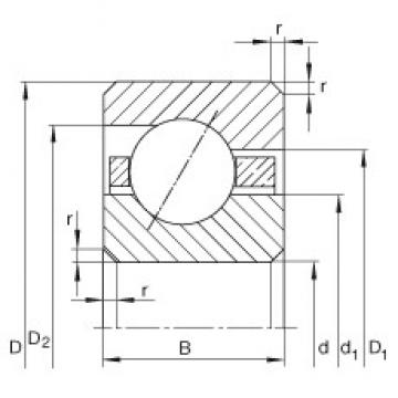 10 inch x 292,1 mm x 19,05 mm  INA CSEF100 roulements rigides à billes