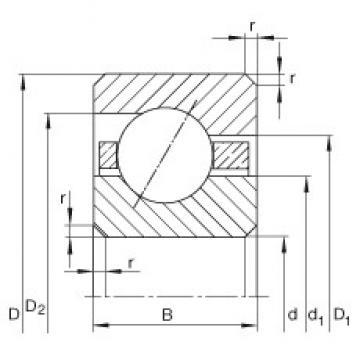 7 inch x 190,5 mm x 6,35 mm  INA CSEA070 roulements rigides à billes