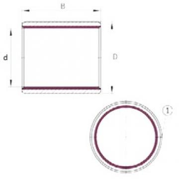 19.05 mm x 22,225 mm x 19,05 mm  INA EGBZ1212-E40 paliers lisses