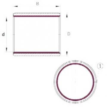 80 mm x 85 mm x 100 mm  INA EGB80100-E40-B paliers lisses