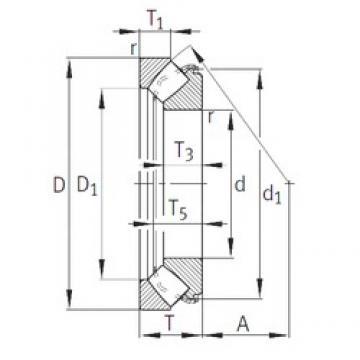INA 29338-E1 roulements à rouleaux de poussée
