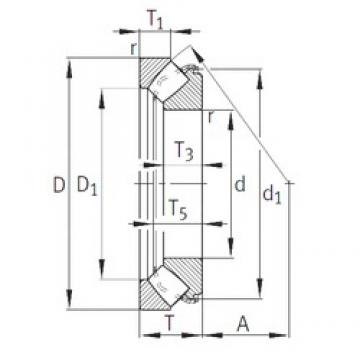 INA 29452-E1 roulements à rouleaux de poussée