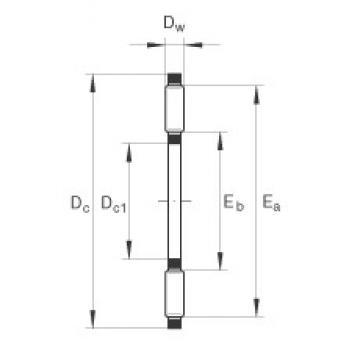 INA AXK0414-TV roulements à rouleaux de poussée