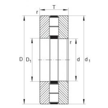 INA 89434-M roulements à rouleaux de poussée