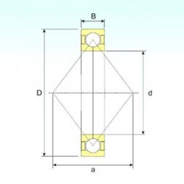 440 mm x 600 mm x 74 mm  ISB QJ 1988 roulements à billes à contact oblique