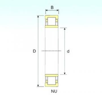 105 mm x 225 mm x 49 mm  ISB NU 321 roulements à rouleaux cylindriques