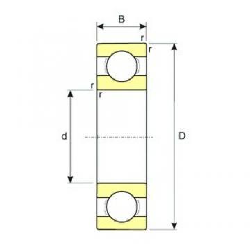25 mm x 62 mm x 17 mm  ISB 6305 roulements rigides à billes