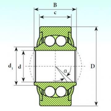 22 mm x 50 mm x 28 mm  ISB GE 22 BBH roulements à billes auto-aligneurs