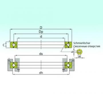 450 mm x 500 mm x 25 mm  ISB RE 45025 roulements à rouleaux de poussée