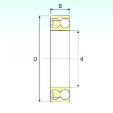 60 mm x 110 mm x 22 mm  ISB 1212 TN9 roulements à billes auto-aligneurs