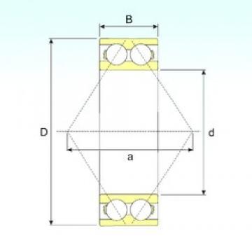 55 mm x 100 mm x 33,3 mm  ISB 3211 ATN9 roulements à billes à contact oblique