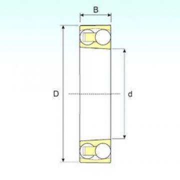 110 mm x 200 mm x 38 mm  ISB 1222 K roulements à billes auto-aligneurs