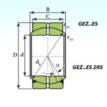 82,55 mm x 130,18 mm x 72,24 mm  ISB GEZ 82 ES 2RS paliers lisses